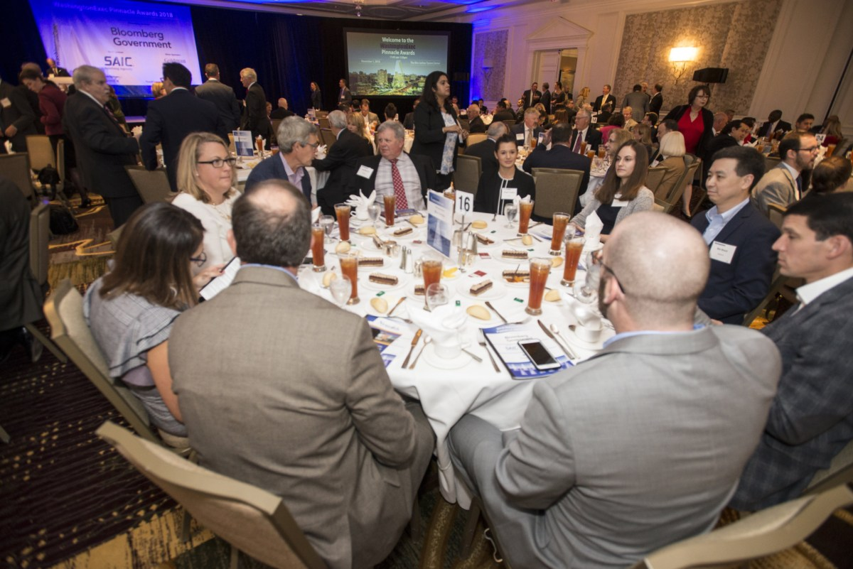 2018 WashingtonExec Pinnacle Awards Award Ceremony - Event at the Ritz Carlton in Tysons Corner, VA