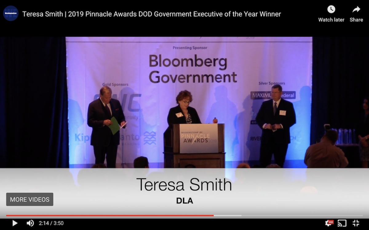 Teresa Smith, Defense Logistics Agency | 2019 Pinnacle Awards DOD Government Executive of the Year